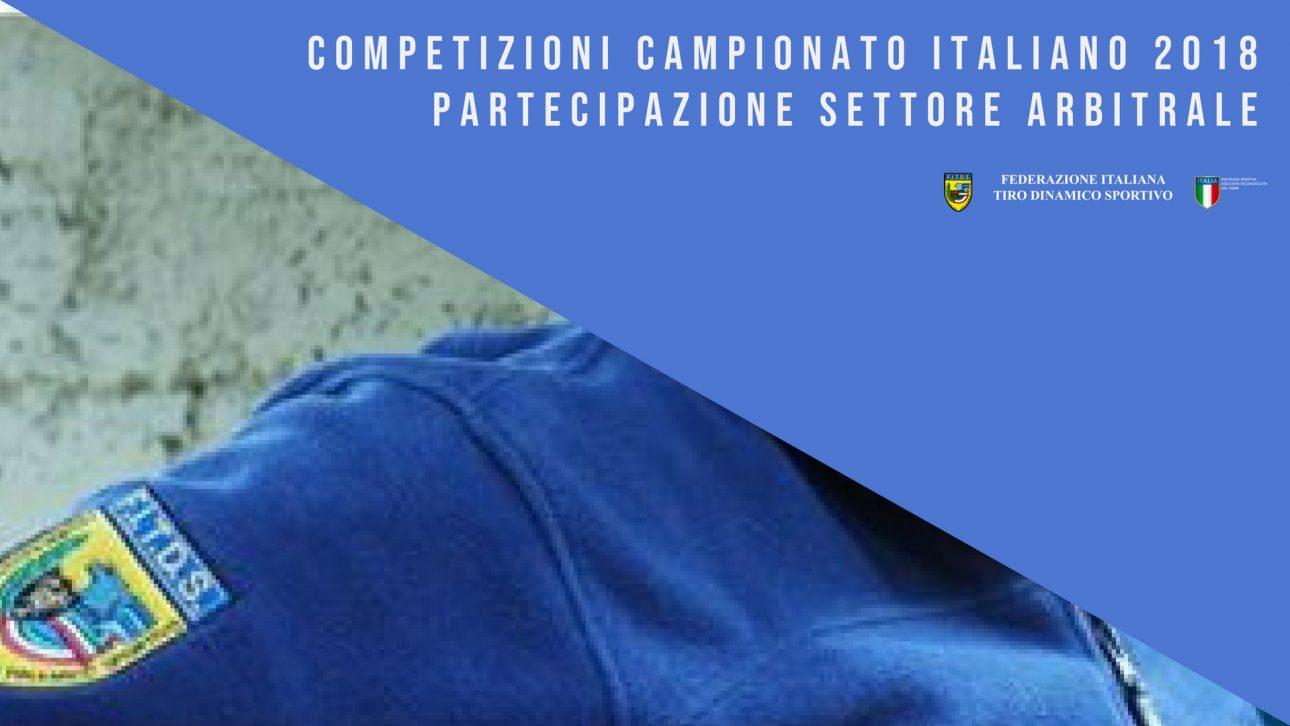 Campionato italiano 2018 | Settore arbitrale