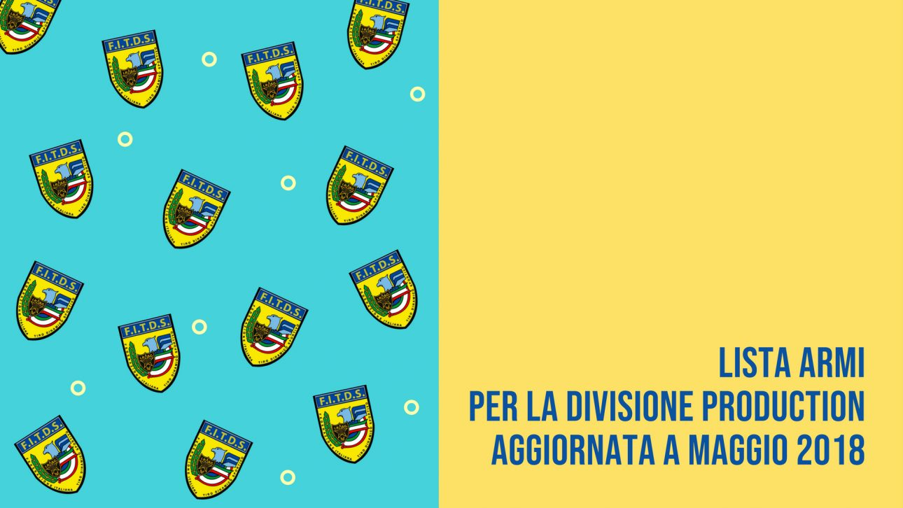 Regional Director | Lista Armi Divisione Production | Maggio2018