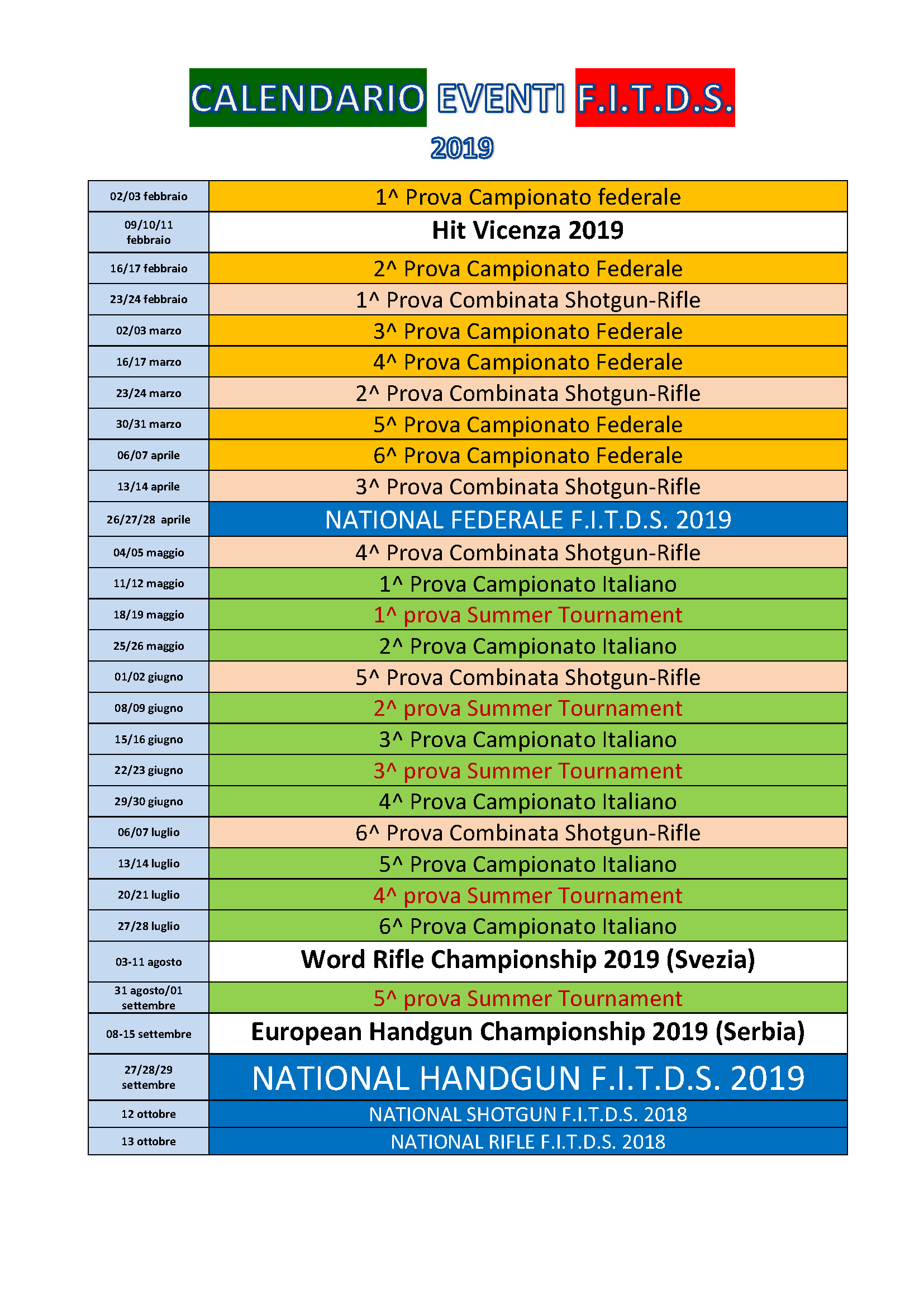 Calendario Sportivo.Comunicato Nr 1 Del Coordinatore Attivita Sportiva