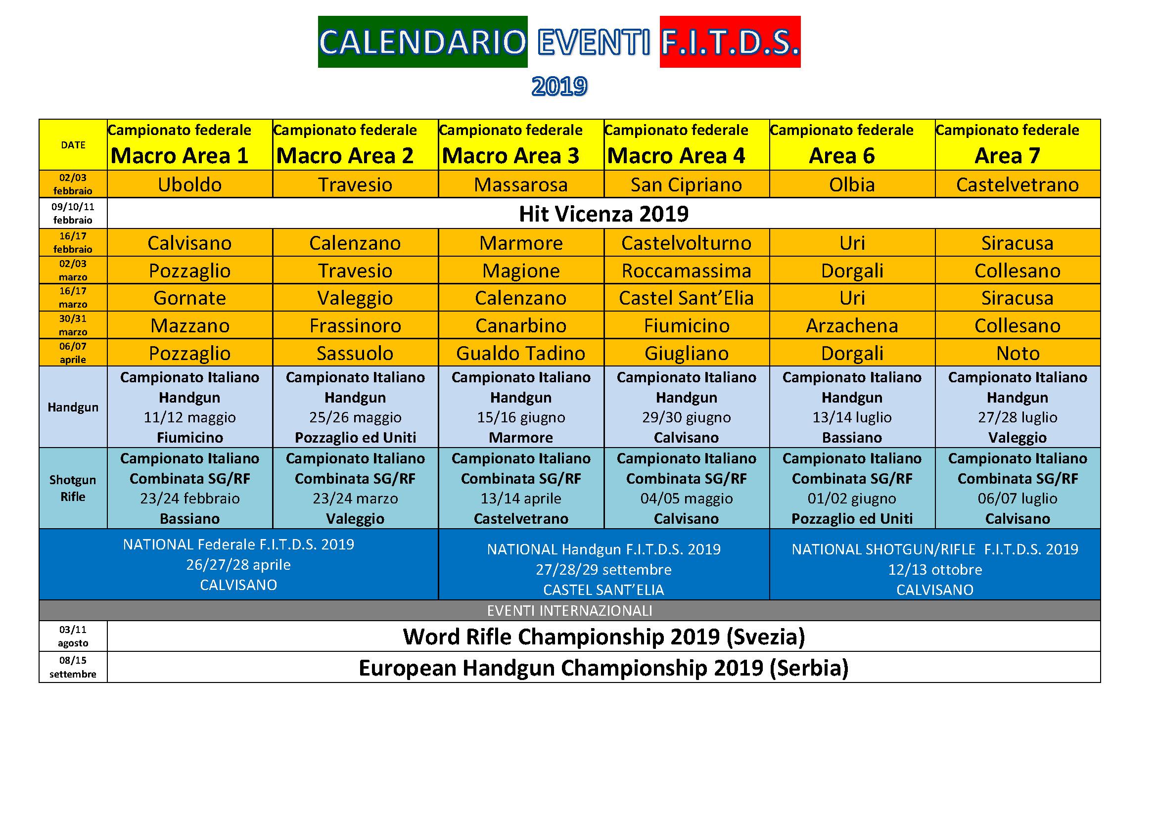 Calendario Nazionali.Comunicato Nr 2 Attivita Sportiva Pubblicazione